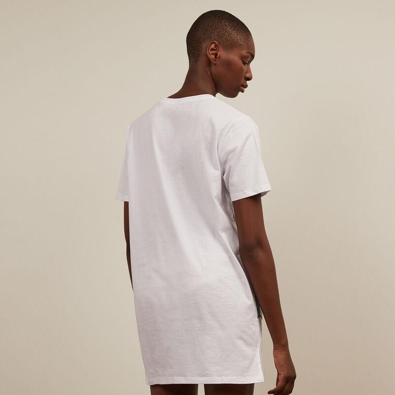 Camiseta larga Stitch - blanca ;