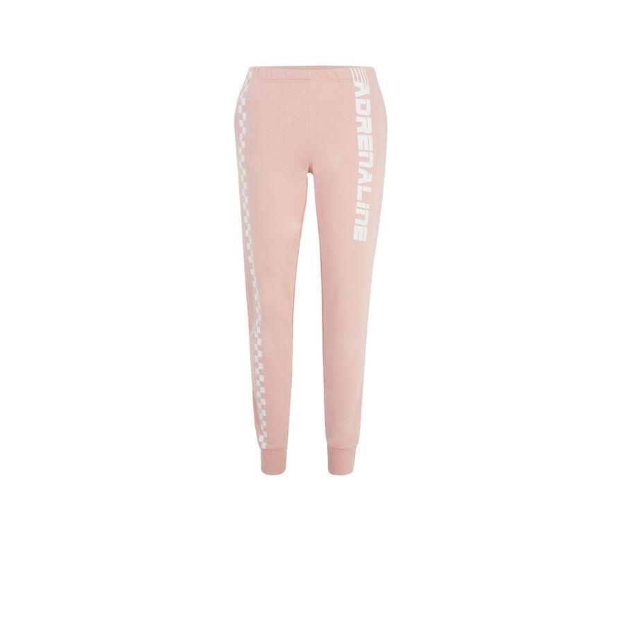 Pantalón deportivo rosa claro adreliniz;