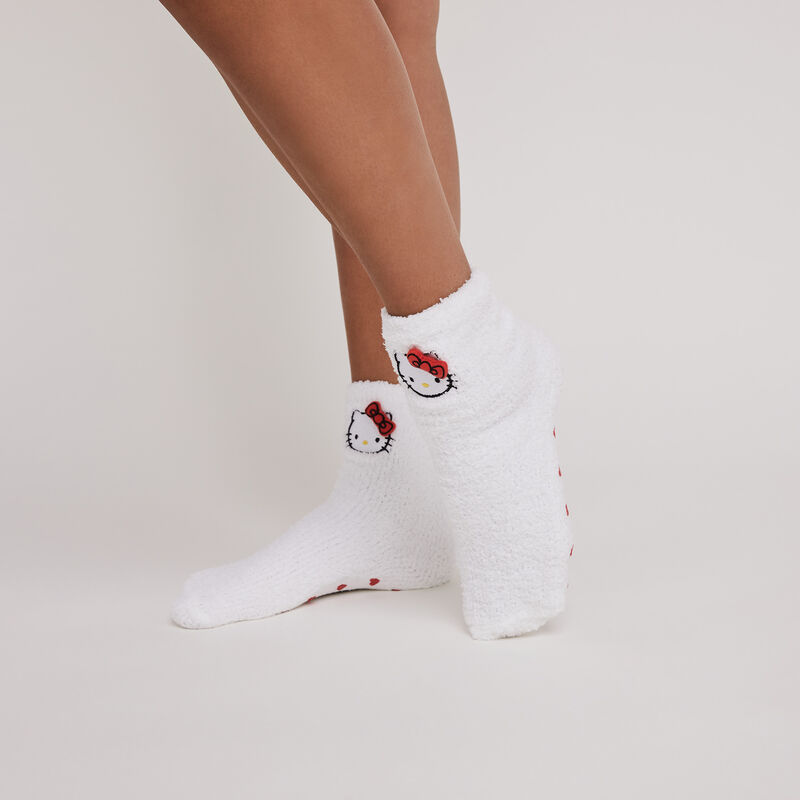 calcetines con detalle hello kitty fufutkittiz;
