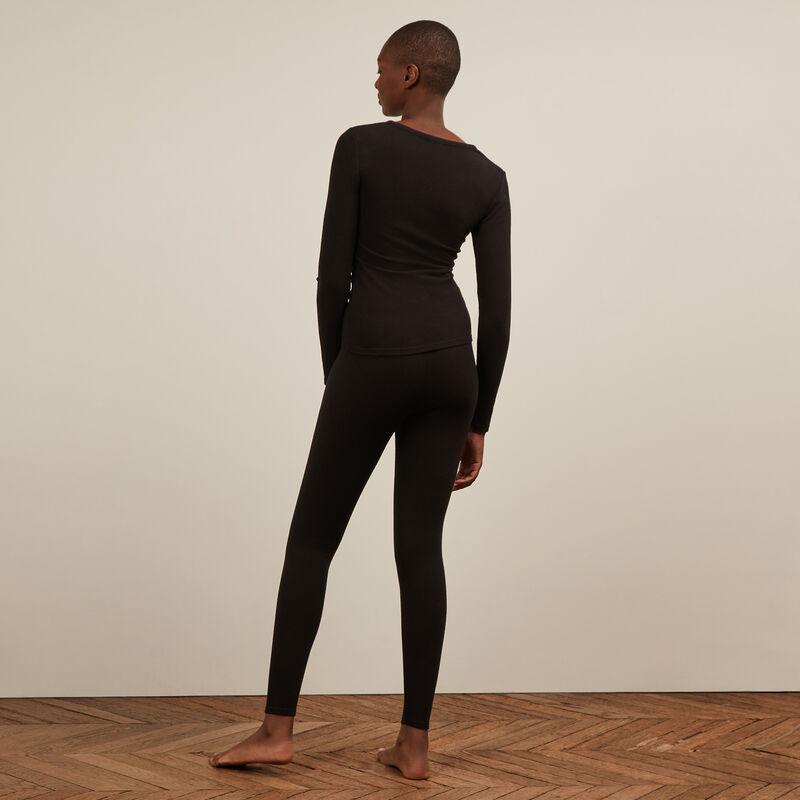Legging liso - negro;