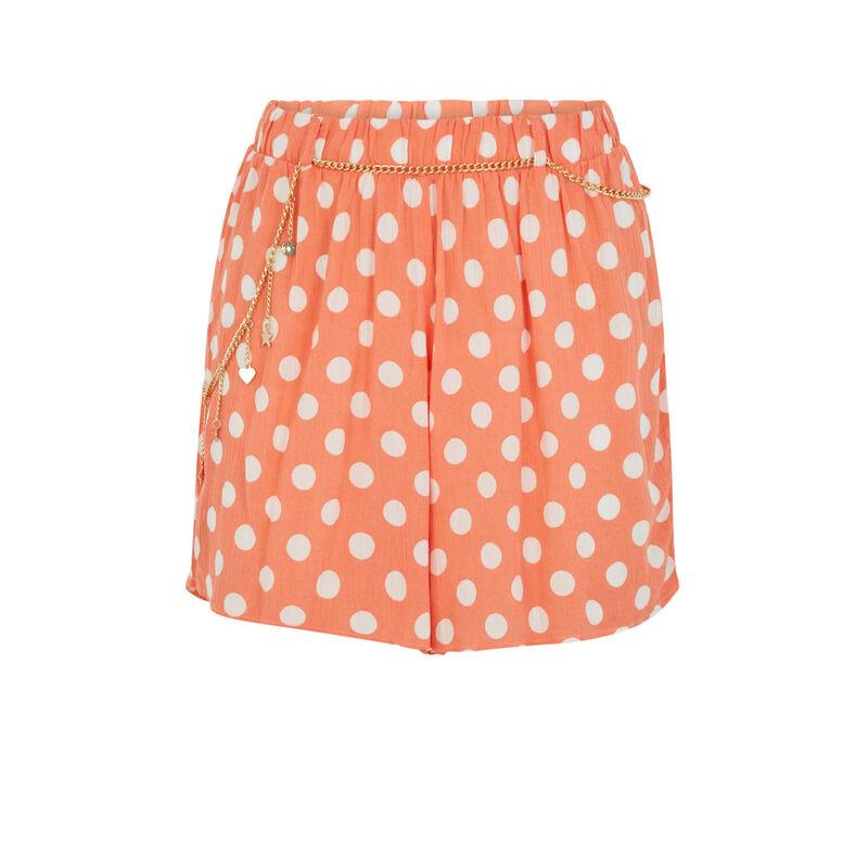 Short estampado de lunares - naranja;