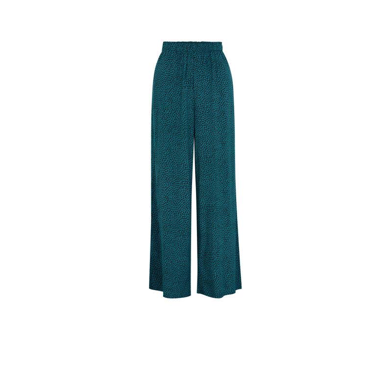 Pantalón con estampado animal - azul;