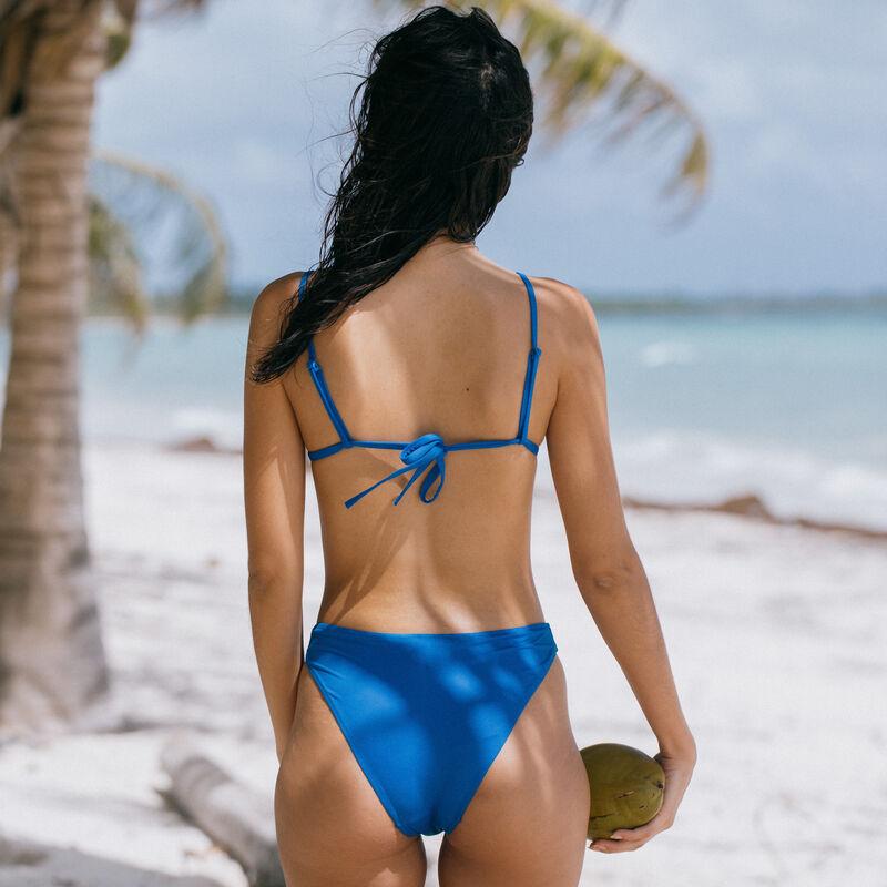 Parte de abajo de bikini braguita lisa - azul;