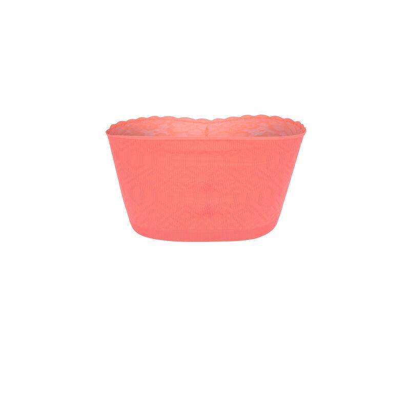 Sujetador bandeau sin aros - rosa;