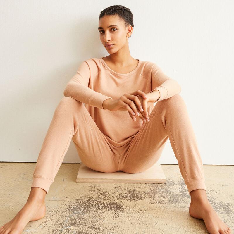 pantalon cordon à nouer - beige;