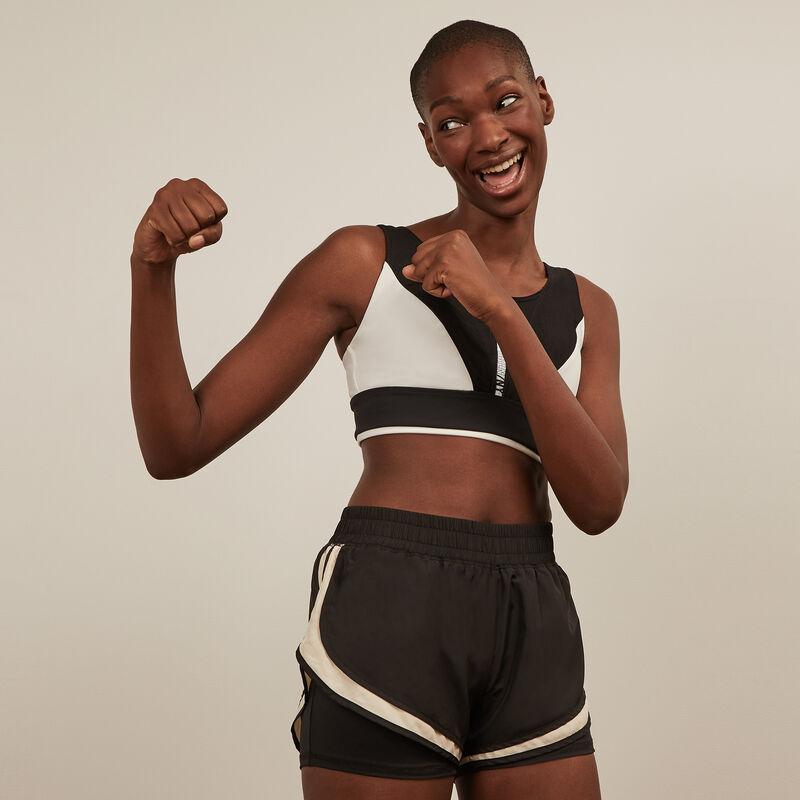 Shorts deportivos - negro ;