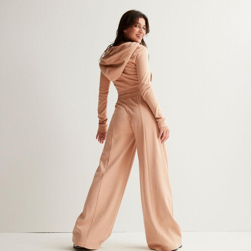 chaqueta crop efecto corsé escotado con la espalda recta - nude;