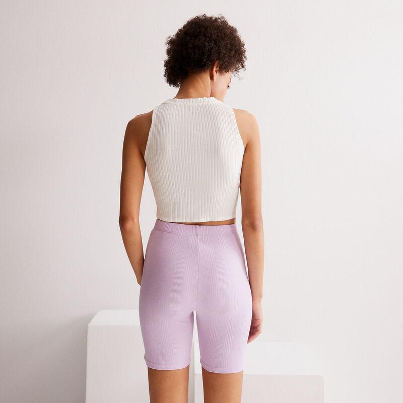 Pantalón ciclista liso - lila;