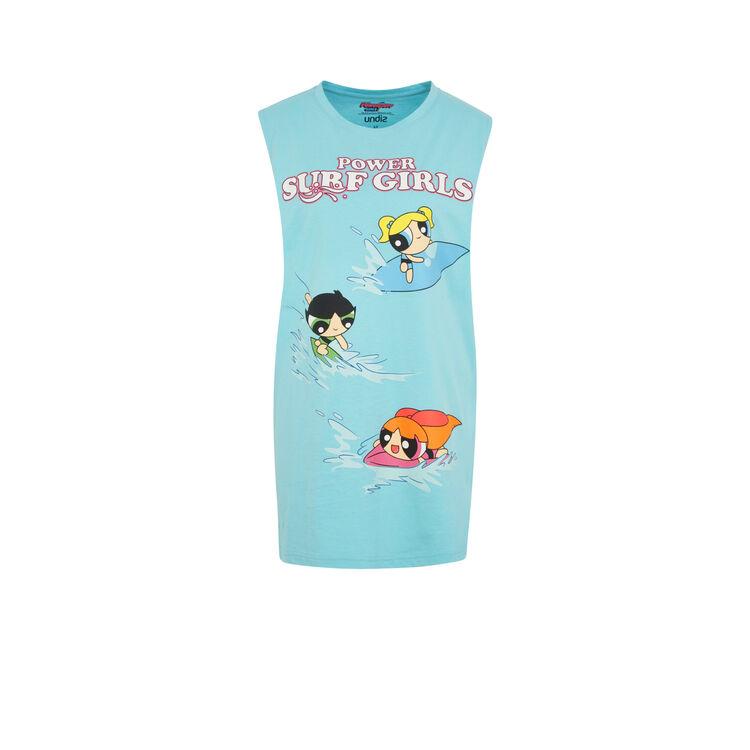 Camiseta larga azul sunchilliz;