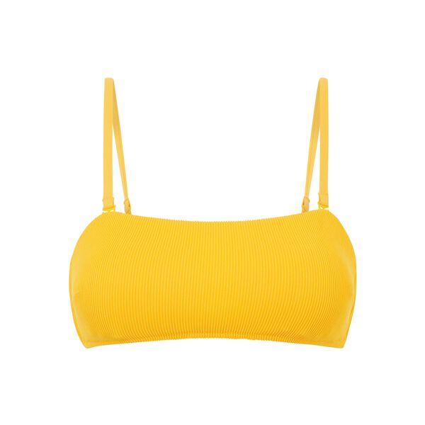 Top de bikini bandeau amarillo ;