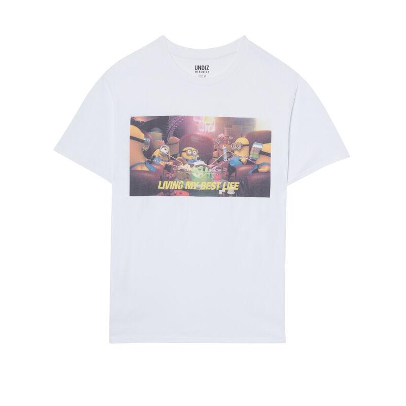 Camiseta con estampado Los Minions - blanca;