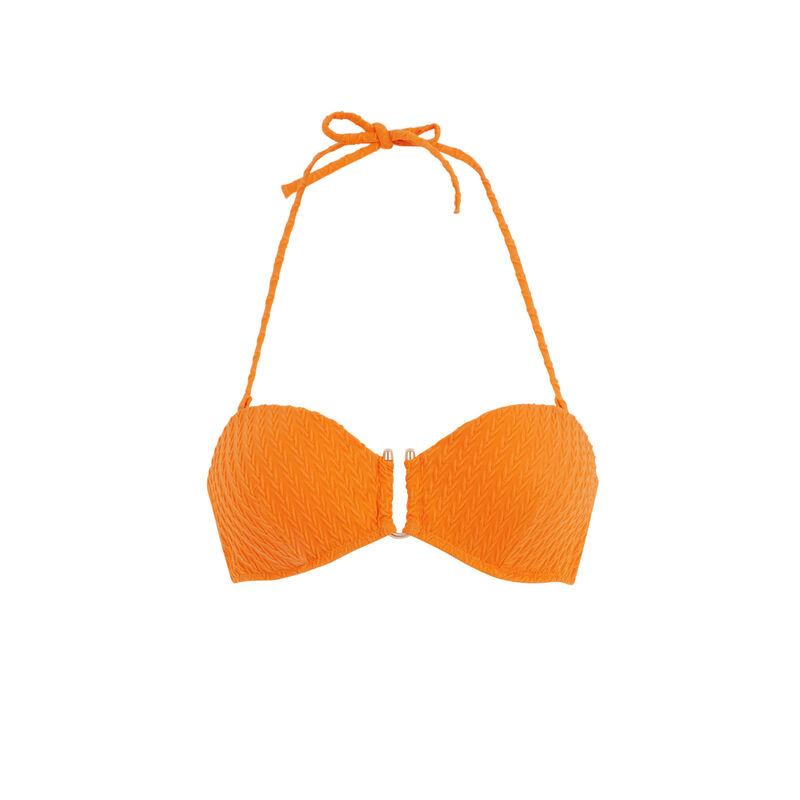 Parte de arriba de bikini bandeau naranja funbraidiz;