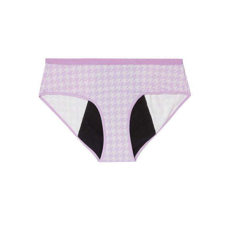 braguitas menstruales con estampado de periódicos - lila;