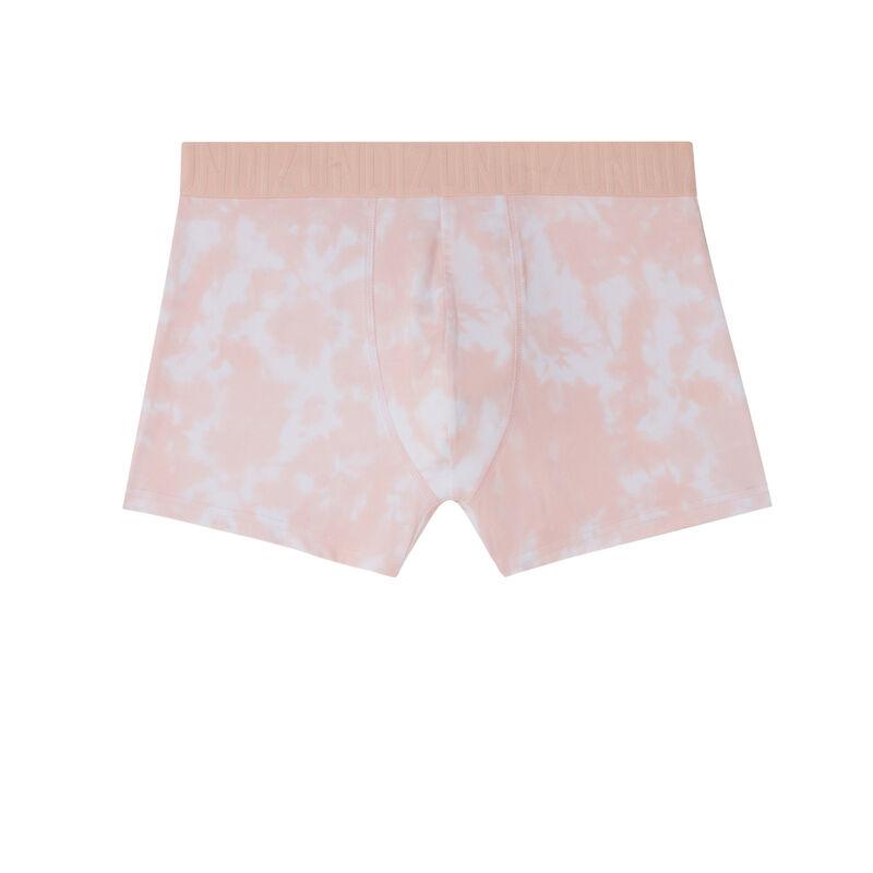 bóxer con motivos tie and dye - rosa;