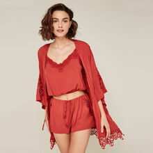 Kimono rojo ladrillo newcomacriz red.