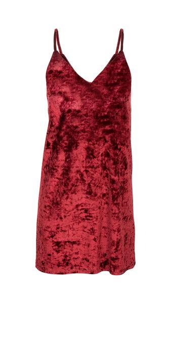 Vestido burdeos veslipiz red.