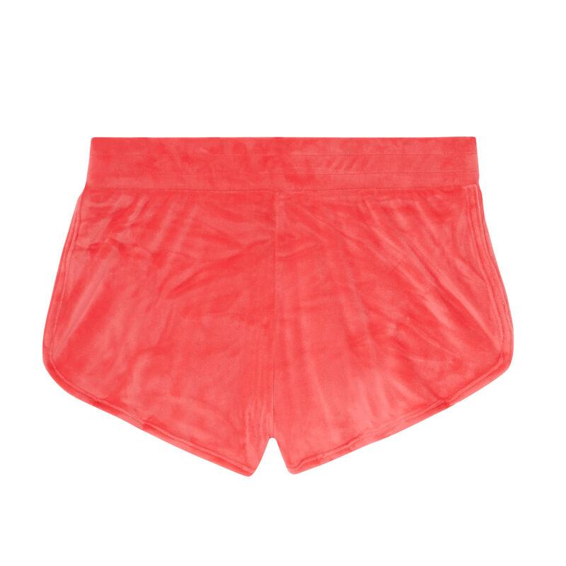 Pantalones cortos de punto con estampado - coral;
