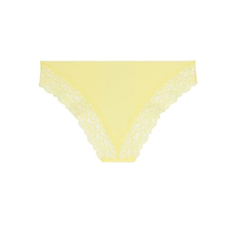 Braguita de microfibra y encaje - amarilla ;