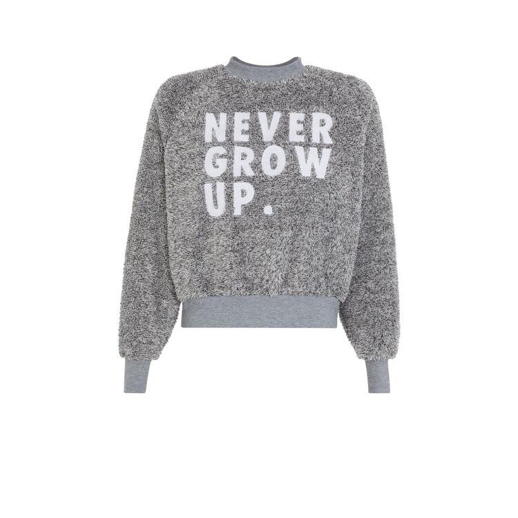Sudadera gris nevergrowiz;