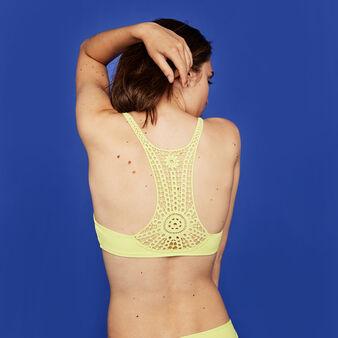 Parte de arriba de bikini amarilla cookiz yellow.