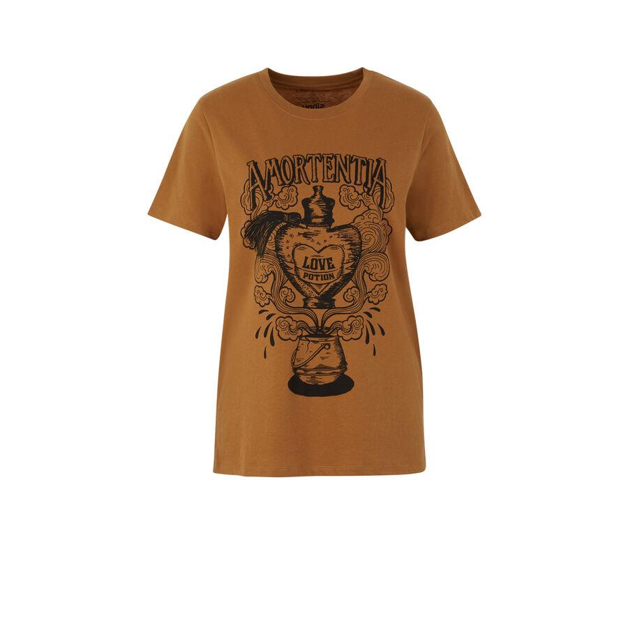 Top marrón dorado alohomoraiz;