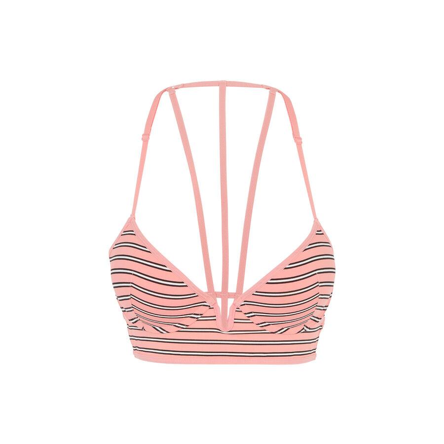 Sujetador bustier push-up rosa simpliz ;