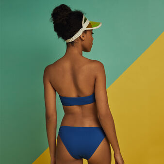 Braguita de bikini azul gaufriz blauw.