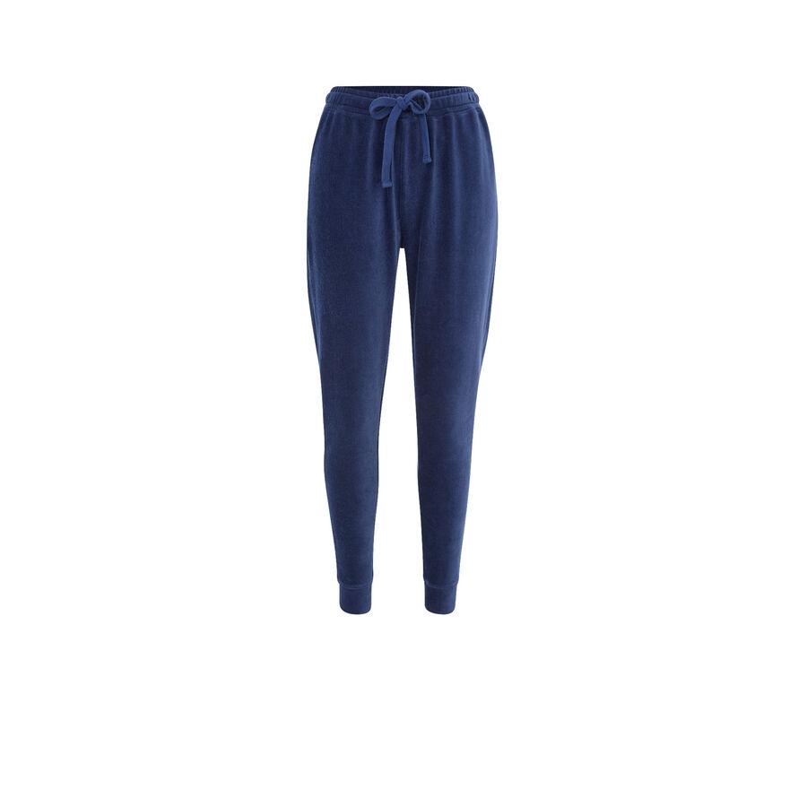 Pantalón deportivo azul largecrochiz;