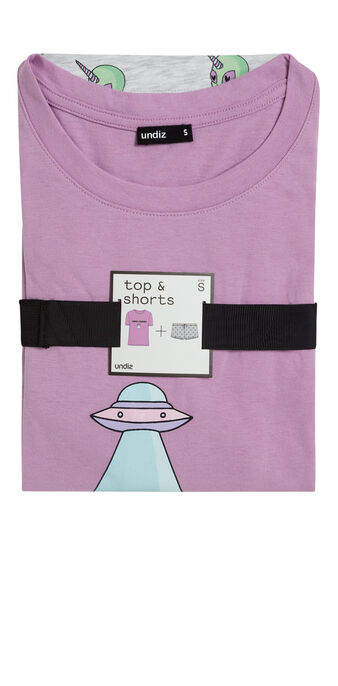 Conjunto de pijama morado taguidiz purple.