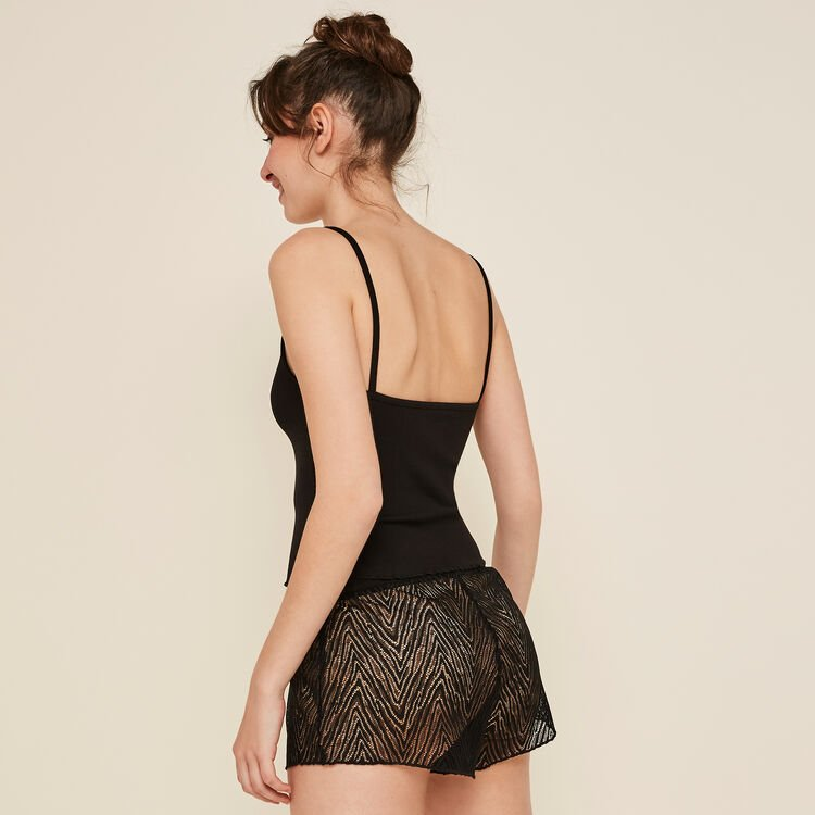 Short negro transparente Dentebiz;