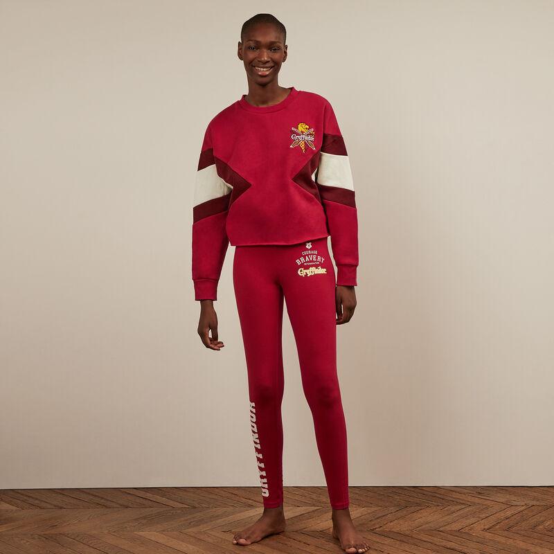 leggings estampado Gryffindor - burdeos;