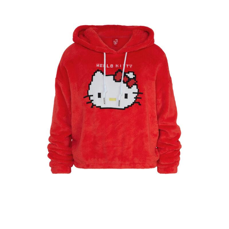 sudadera polar con capucha y parche hello kitty hellokittiz;