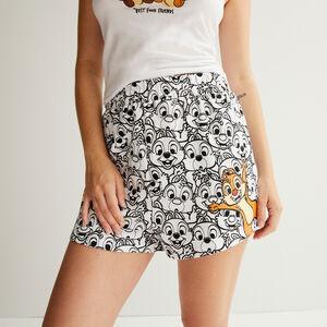 shorts con estampado Chip y Chop - blanco