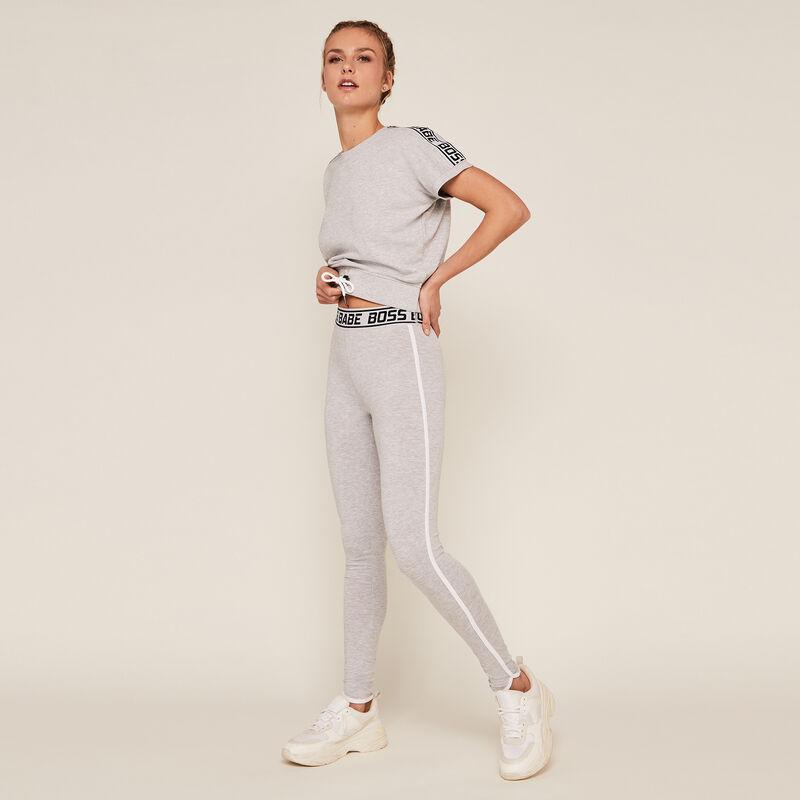 • Top con elástico en la cintura - gris ;