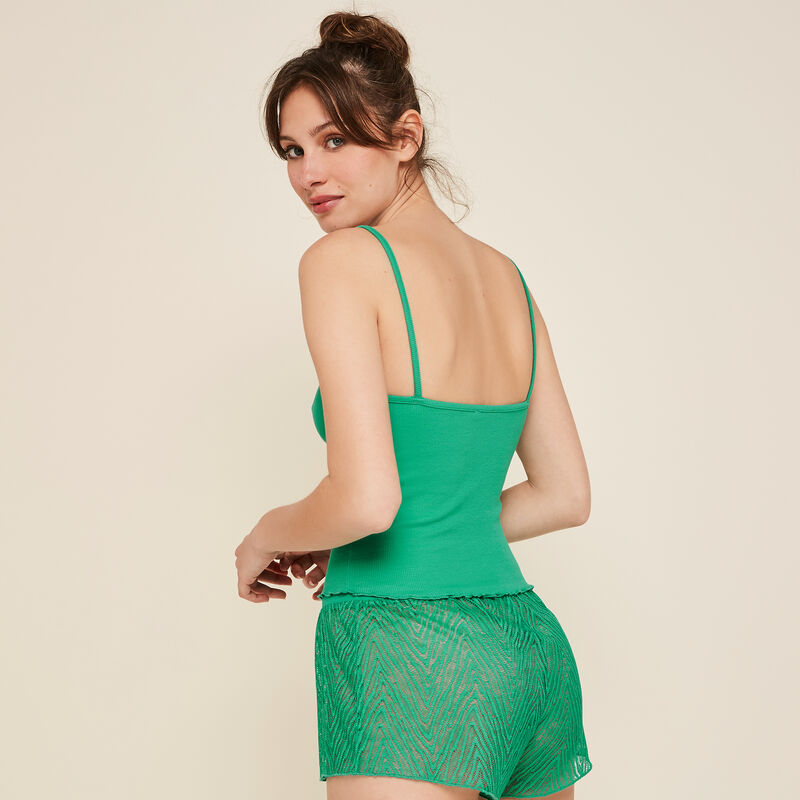 Short verde transparente Dentebiz;