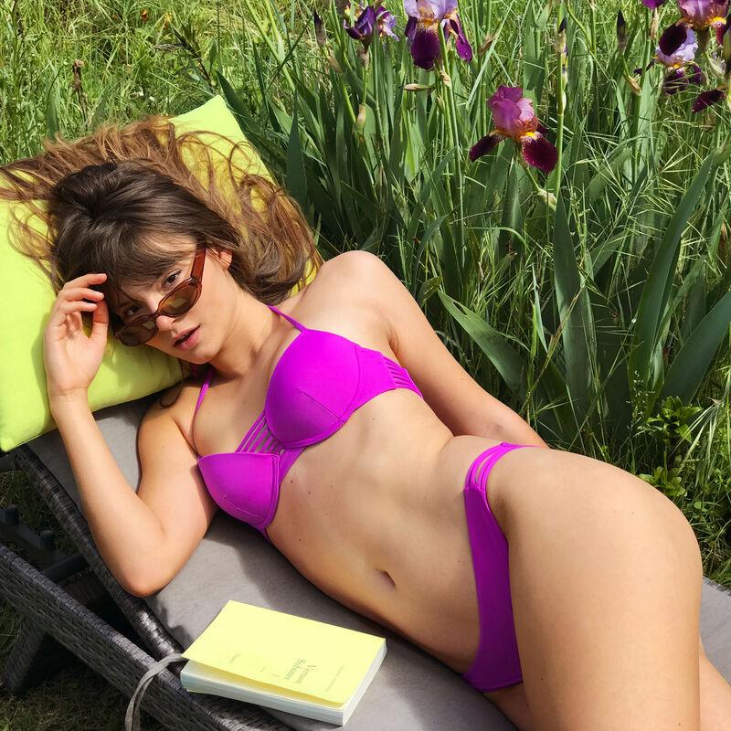Parte de arriba de bikini push-up - fucsia;