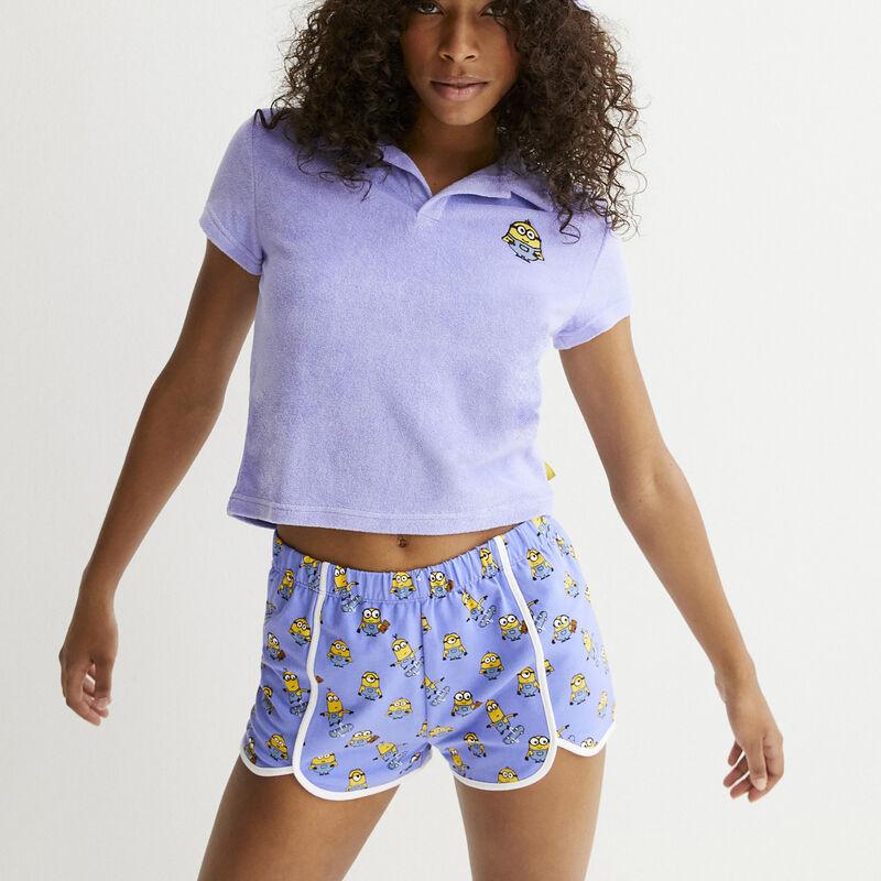 shorts con motivos Los Minions en skate - azul;