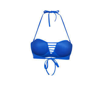 Parte de arriba de bikini azul oscuro tahitiz blue.