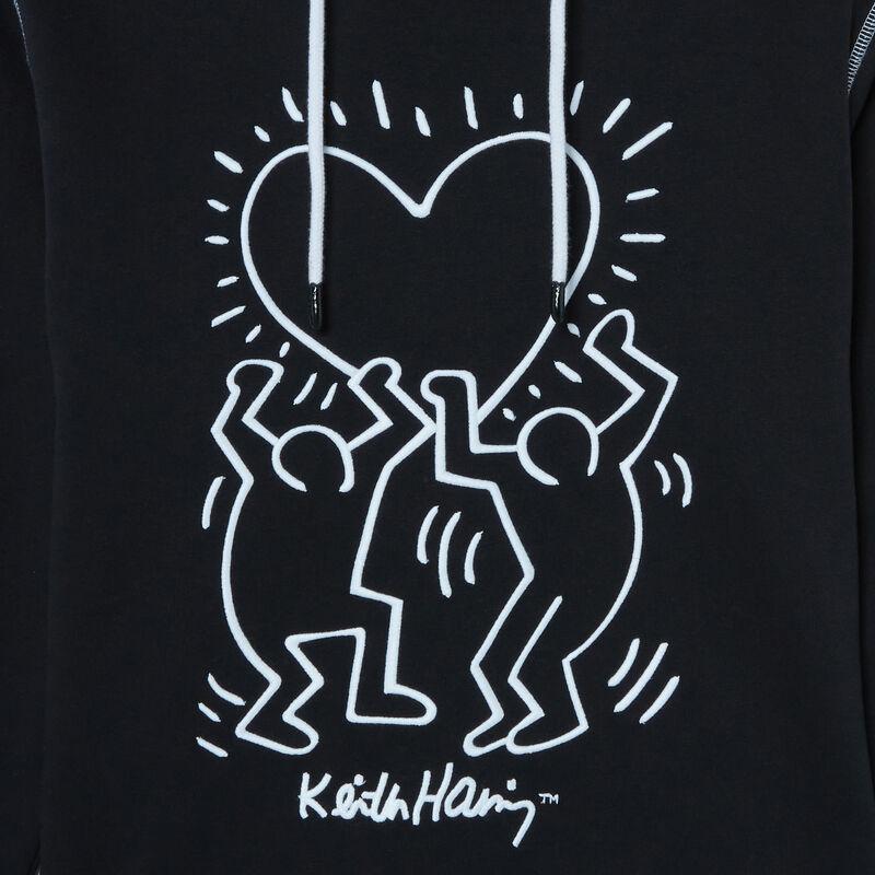 sudadera con motivos de corazones Keith Haring - negro;