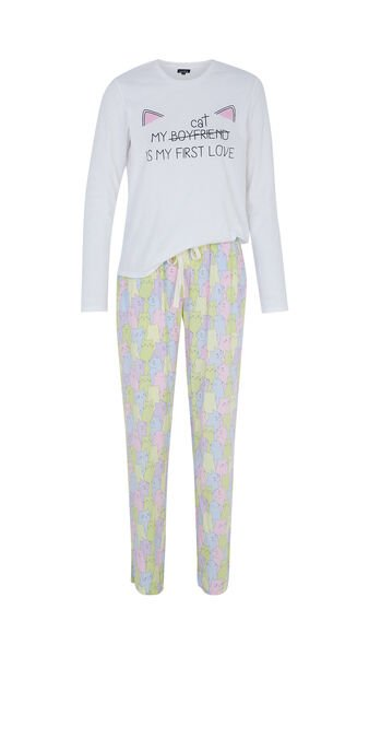 Conjunto de pijama blanco coraziz spain white.