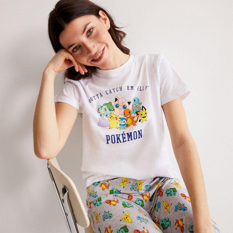 Top con estampado de Pokemon - blanco;