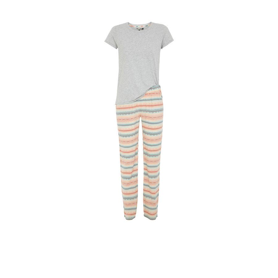 Conjunto de pijama gris aribiz;${refinementColor}