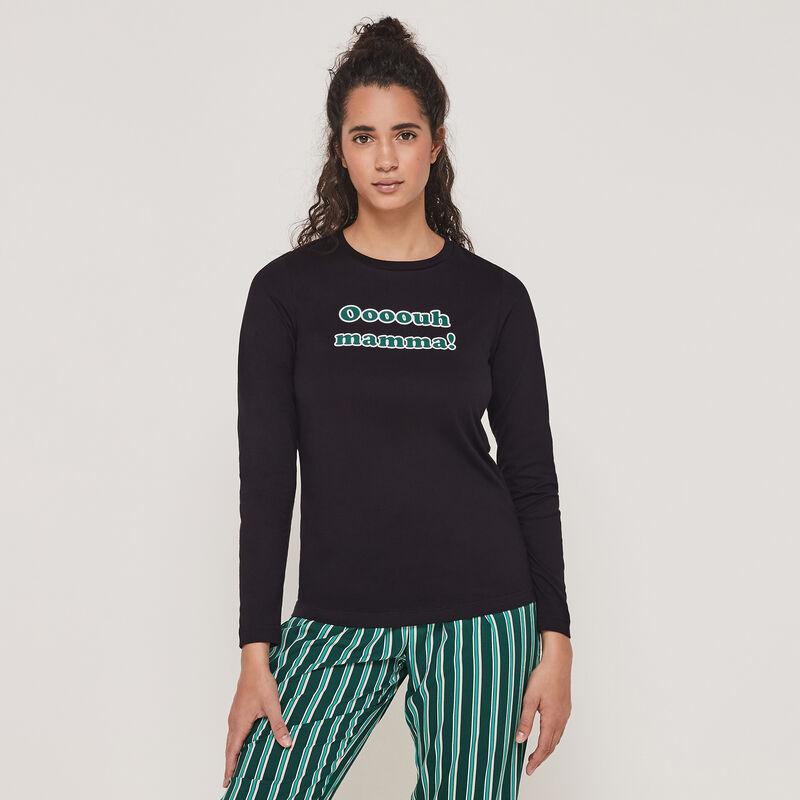 Conjunto de pijama top + pantalón con mensaje internewanniz;