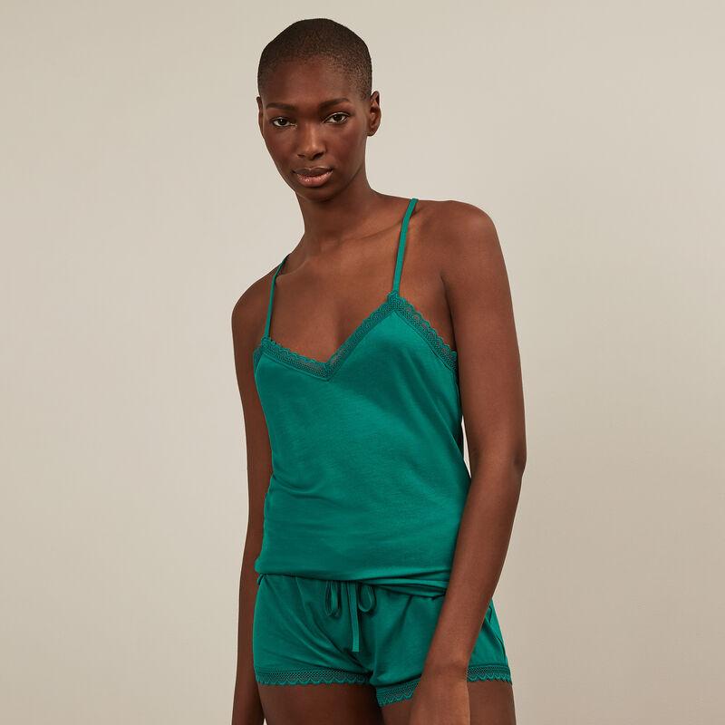 Shorts de punto - verde;