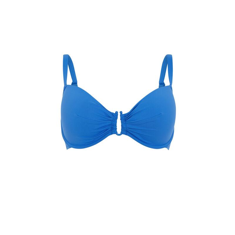 Parte de arriba de bikini push-up - azul;