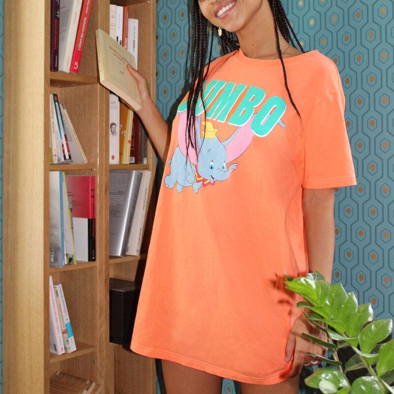 Camiseta larga de manga corta Dumbo - naranja;