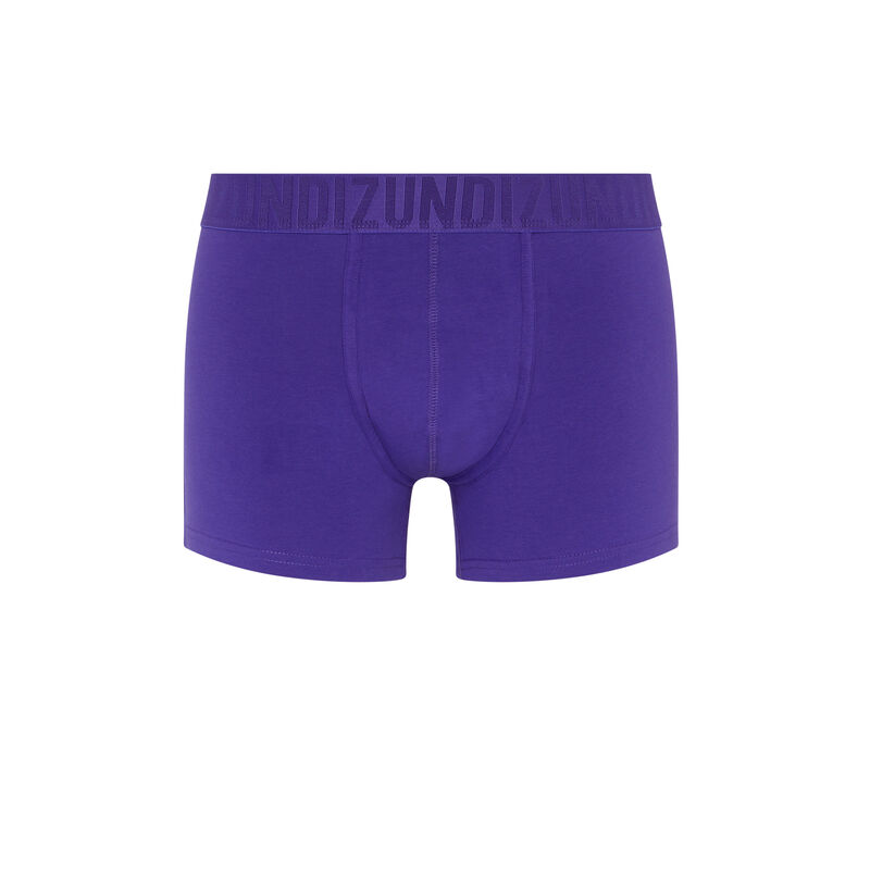Bóxer de algodón liso - violeta;