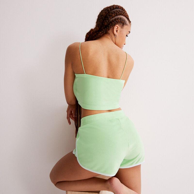 Shorts de terciopelo - verde;
