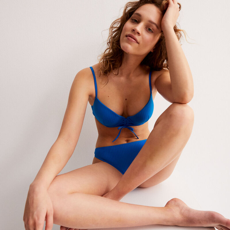 Parte de abajo de bikini braguita - azul;