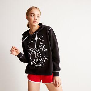 sudadera con motivos de corazones Keith Haring - negro